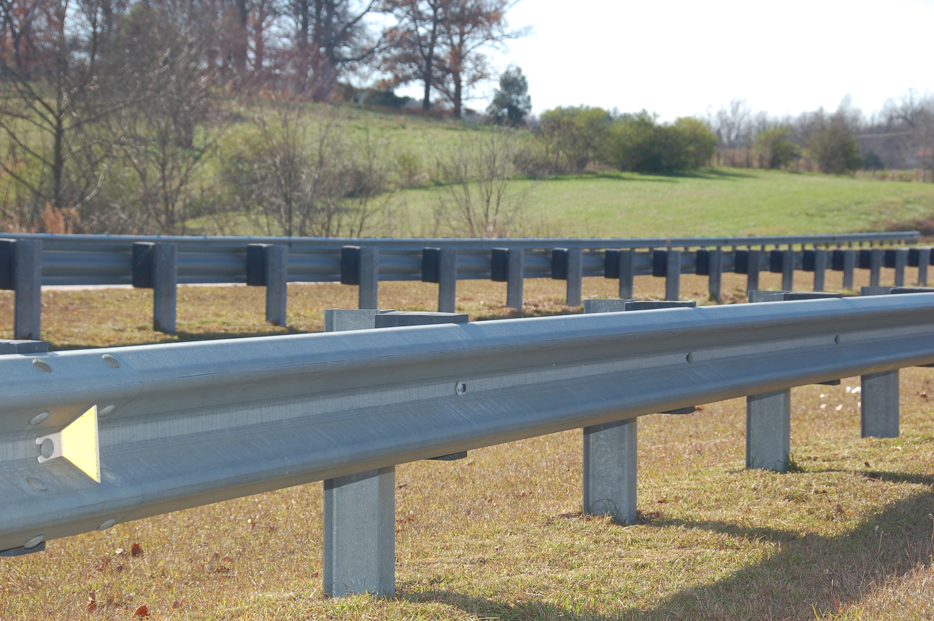 W Beam Guardrail For Livestock Cattle And Horses