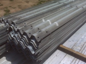Heaps of Thrie Beam Guardrail for sale