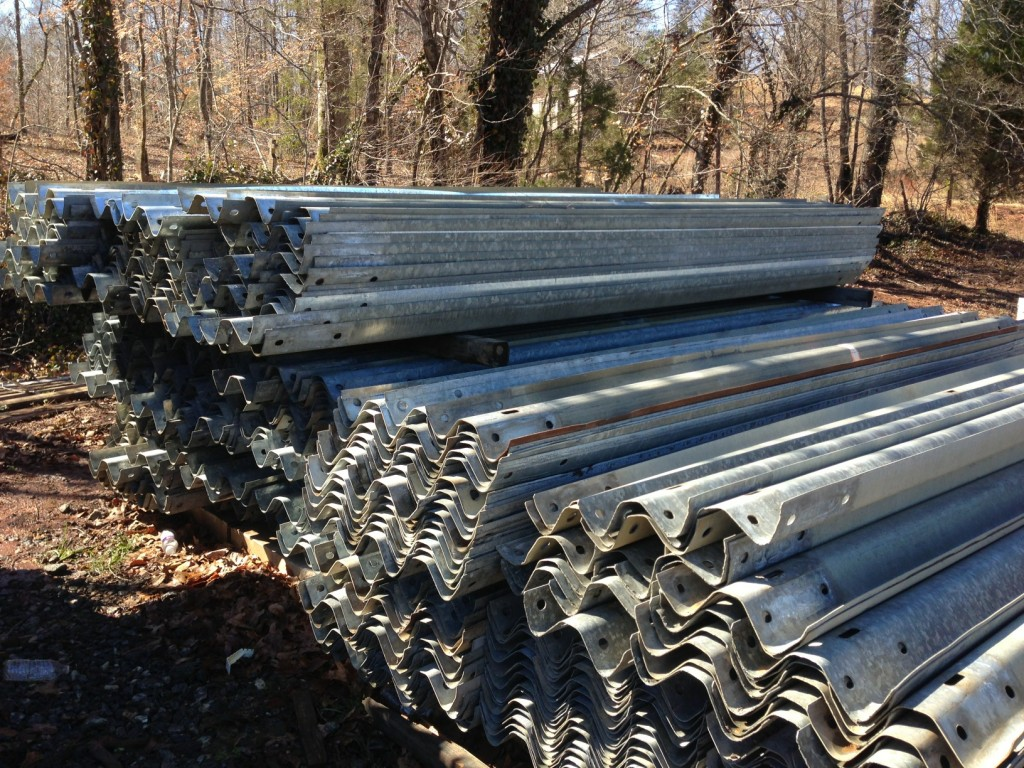 Stack of W-Beam Guardrail
